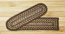 Fir and Ivory Braided Jute Stair Tread - Rectangle