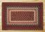 Burgundy Braided Jute Rug, Rectangle - 27 x 45 inch