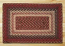 Burgundy Braided Jute Rug, Rectangle (Special Order Sizes)