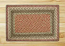 Olive, Burgundy, and Gray Braided Jute Rug, Rectangle (Special Order Sizes)