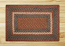 Burgundy, Blue, and Gray Braided Jute Rug, Rectangle (Special Order Sizes)