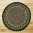 Brown, Black, and Charcoal Braided Jute Rug - Round (Special Order Sizes)