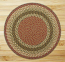 Olive, Burgundy, and Gray Braided Jute Rug, Round (Special Order Sizes)