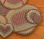 Burgundy, Black, and Sage Cotton Braid Coaster