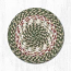 Green and Burgundy Cotton Braid Trivet