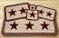 Burgundy Star Wicker Weave Tablemat