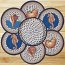 Deep Blue Sea Shell Braided Jute Trivet Set