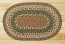 Olive, Burgundy, Gray Braided Jute Tablemat - Oval
