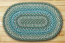 Sage, Ivory, and Settler's Blue Braided Jute Rug, Oval - 20 x 30 inch