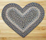 Blue and Natural Braided Jute Rug - Heart