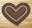Burgundy and Gray Braided Jute Rug - Heart