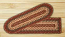 Burgundy Braided Jute Stair Tread - Oval