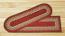 Burgundy, Maroon, and Sunflower Braided Jute Stair Tread - Oval