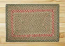 Green and Burgundy Braided Jute Rug, Rectangle - 20 x 30 inch