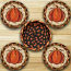 Harvest Pumpkin Braided Coaster Set