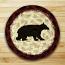 Cabin Bear Jute Coaster