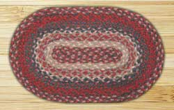 Burgundy Braided Jute Tablemat - Oval