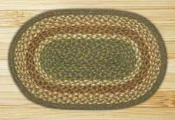 Mustard and Ivory Braided Jute Tablemat - Oval