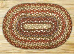 Honey, Vanilla, and Ginger Braided Jute Tablemat - Oval