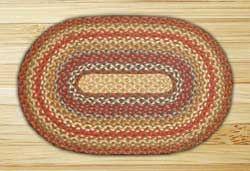 Honey, Vanilla, and Ginger Braided Jute Rug, Oval - 27 x 45 inch