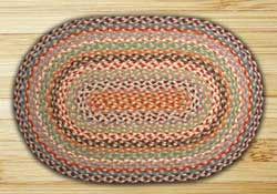 Multi 1 Braided Jute Rug, Oval - 27 x 45 inch