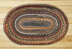 Random Braided Jute Rug, Oval (Special Order Sizes)