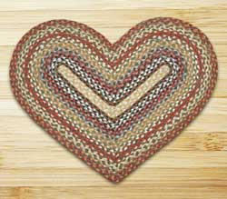 Honey, Vanilla, and Ginger Braided Jute Rug - Heart
