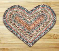 Multi 1 Braided Jute Rug - Heart