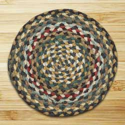 Fir and Ivory Braided Jute Rug, Round (Special Order Sizes)