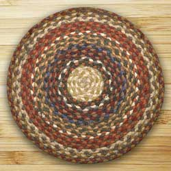 Honey, Vanilla, and Ginger Braided Jute Rug, Round (Special Order Sizes)