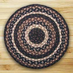 Mocha and Frappuccino Braided Jute Rug, Round (Special Order Sizes)