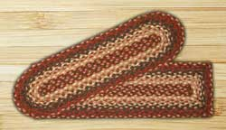 Burgundy Braided Jute Stair Tread - Rectangle