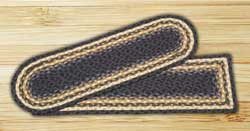 Light Blue, Dark Blue, and Mustard Braided Jute Stair Tread - Rectangle