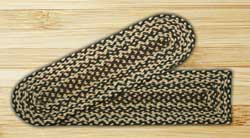 Ebony, Ivory, and Chocolate Braided Jute Stair Tread - Rectangle