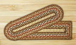 Honey, Vanilla, and Ginger Braided Jute Stair Tread - Rectangle