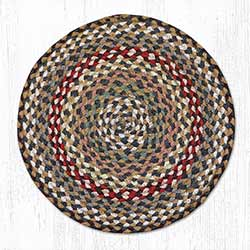 Fir and Ivory Braided Jute Chair Pad