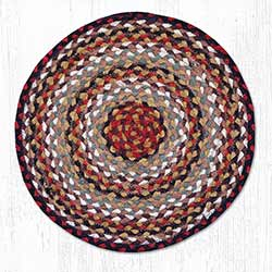 Burgundy, Mustard, and Ivory Braided Jute Chair Pad