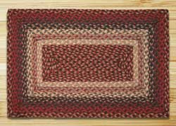 Burgundy Braided Jute Rug, Rectangle - 27 x 45 inch