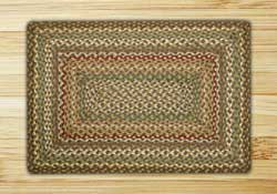 Fir and Ivory Braided Jute Rug, Rectangle (Special Order Sizes)