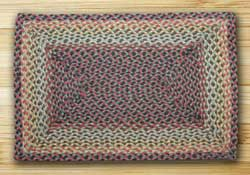 Burgundy, Black, and Sage Braided Jute Rug, Rectangle (Special Order Sizes)