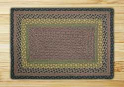 Brown, Black, and Charcoal Braided Jute Rug, Rectangle - 20 x 30 inch