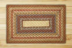 Honey, Vanilla, and Ginger Braided Jute Rug, Rectangle - 20 x 30 inch