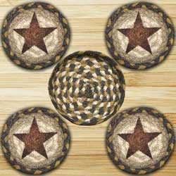 Gold Star Braided Coaster Set