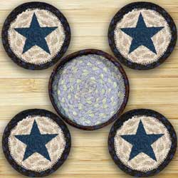 Blue Star Braided Coaster Set