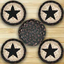 Black Star Braided Coaster Set