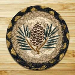 Pinecone Jute Coaster
