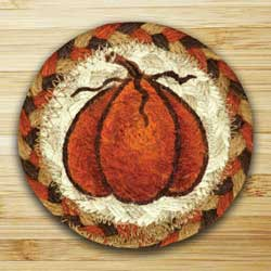 Harvest Pumpkin Jute Coaster