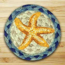Star Fish Jute Coaster