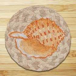 Sea Shell Jute Coaster
