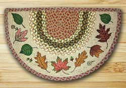 Autumn Leaves Half Moon Braided Jute Rug